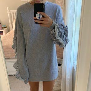Missguided Ruffle Sweater Dress